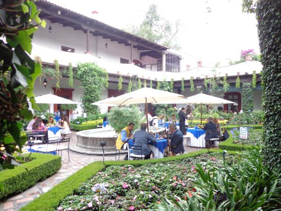restaurante antiguo san angel inn el jardin terraza