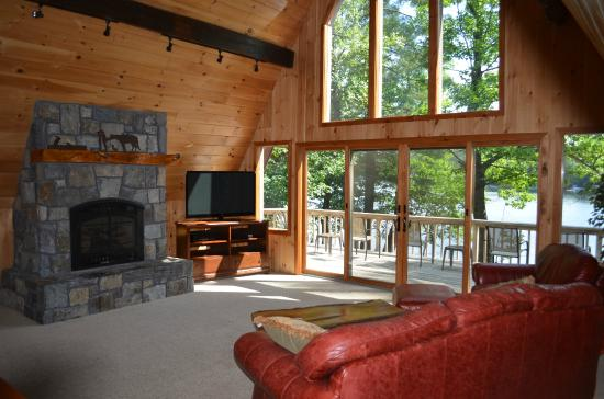 Warrensburg, NY: Living room in the Lake House