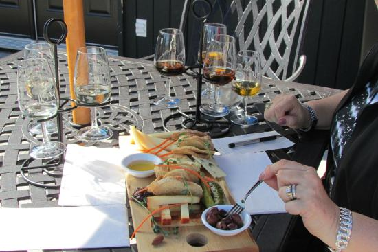 Jost Vineyards: fabulous cheese tray for two