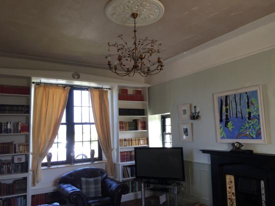 Castlemartin, UK: One of the two lounges with the artists own art