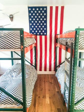 The Vintage Biker Room Bunk Beds And Decor Picture Of Hostel Fish