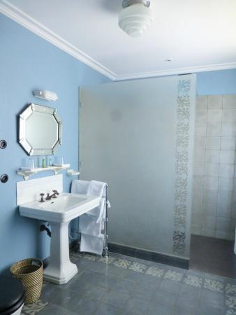 Les Tilleuls 1738 : spacieuse douche italienne, lavabo, WC