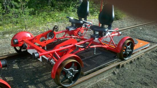 Saranac Lake, NY: Rail bike