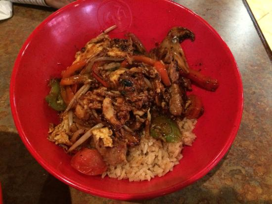 Build Your Own Stir Fry Picture Of Genghis Grill Centennial