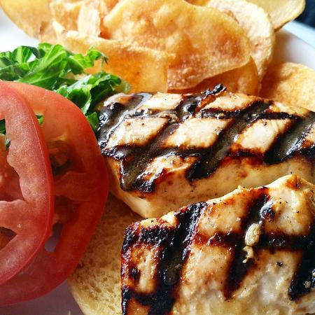 AJ's on the Creek : Grilled Wahoo Sandwich Special