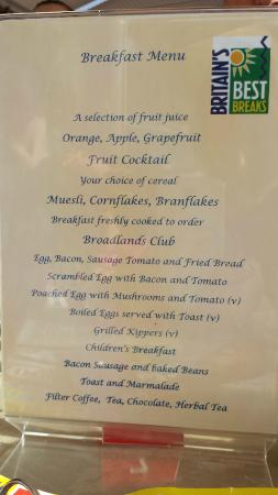Broadlands Guest House: Breakfast
