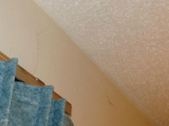Super 8 Oshkosh Airport: cobwebs hanging from the ceiling