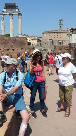 Rome with Marisa : Marisa hard at work
