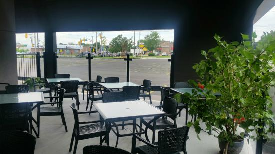 Fork And Cork Grill: A View From The Covered Patio, Open May To September