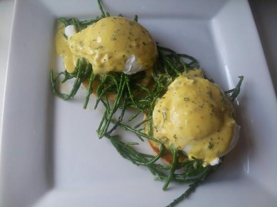 The Shed Cafe & Brunch Bar: BEACHED BENEDICT!  The Shed's own Creation!   A variation of Eggs Benedict, replacing Bacon for