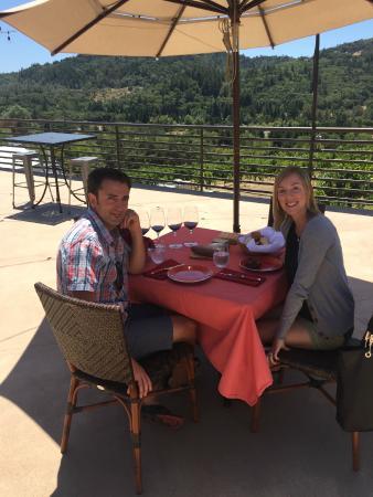 Healdsburg, CA: His lunch provided