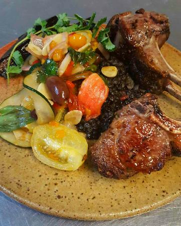 Georgetown, TX: Lamb with local veggies
