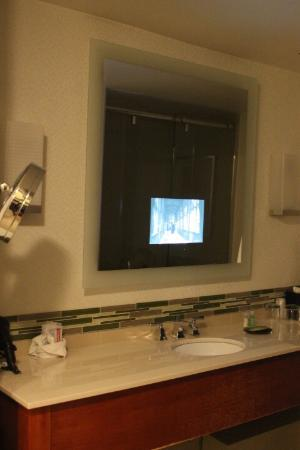 The Westin Calgary TV In Bathroom Mirror
