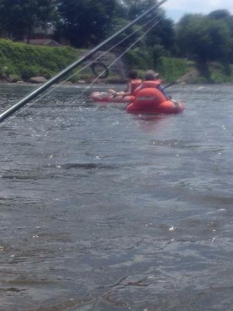 Grand River Rafting Company - Day Tours: Finishing the first set of Rapids. Fun for all!