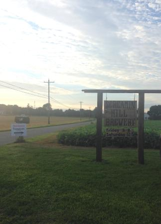 Cream Ridge, NJ : Sign in the front