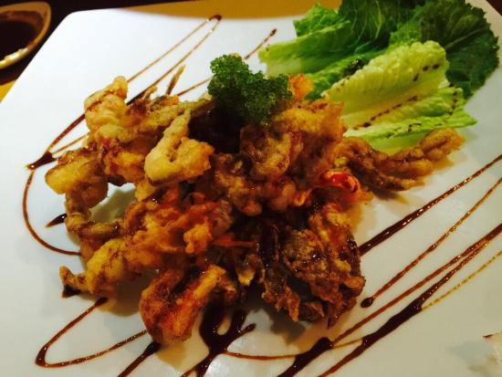 Soft shell crab picture of blue fish sushi cabo san for Blue fish sushi
