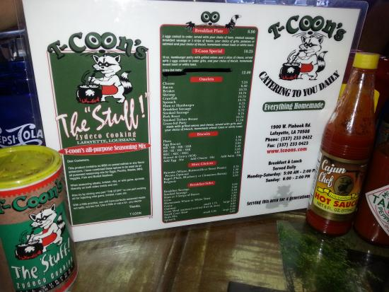 T-Coon's Restaurant : Cajun Country Kitchen with all the spice of life