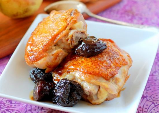 Natick, MA: chicken with prunes
