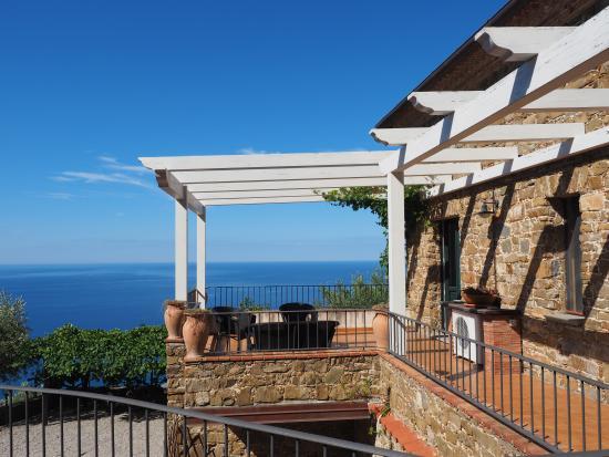 Casale Santa Rosalia: Ons balkon, waanzinnig !!