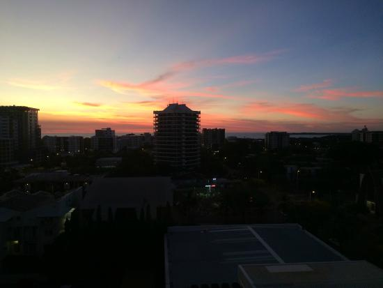 H Hotel: Sunset from 9th Floor