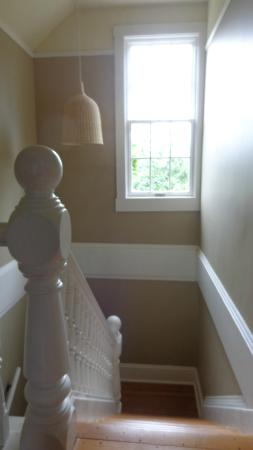Corbett House Country Inn: The pretty staircase in sunlight.