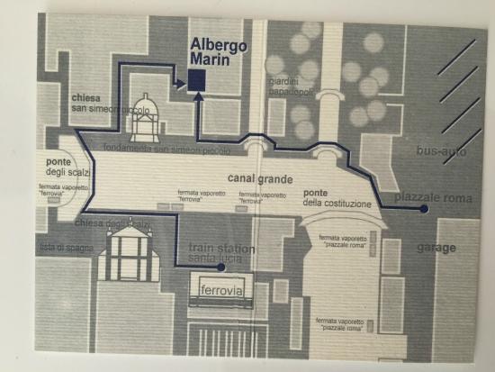 Albergo Marin: Map