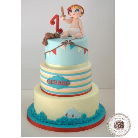 Mericakes Baby Pirate Birthday Cake