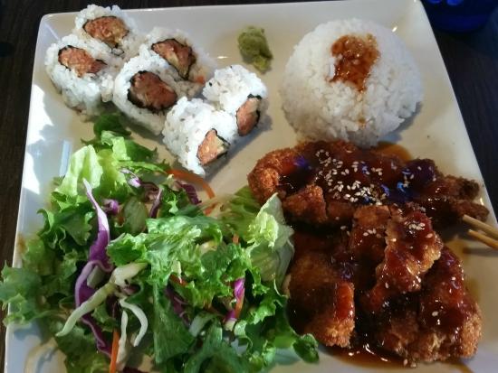 Chopstix Too: Chicken Teriyaki and Spicy Tuna Roll Combo