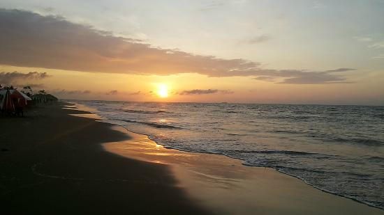 Hotel Los Corales: La spiaggia di El Morro al tramonto