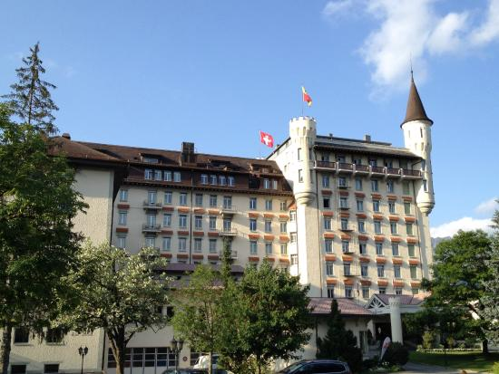 VIEW ON AWESOME GSTAAD PALACE AS SEEN IN JULY 2015 ...