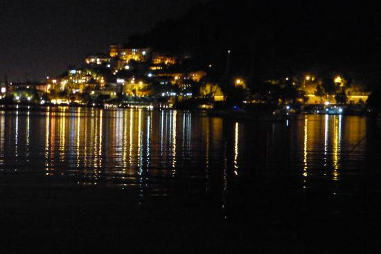 Majesty Marina Vista Fethiye: View from Marina Vista at night.