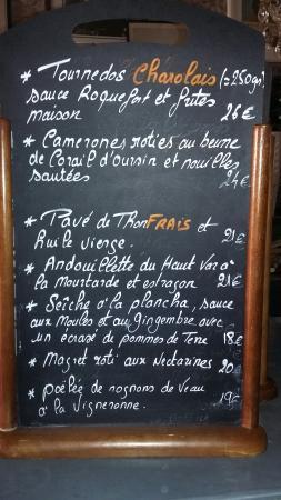Chez Gaston : Carte d été  Les entrées de 11€ a 15€ Les plats de 18€ a 26€