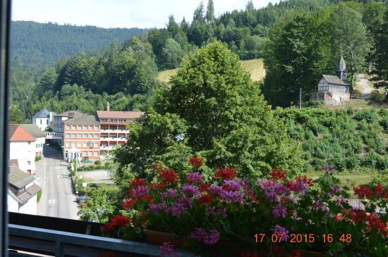 Flair Hotel Adlerbad: vue depuis le balcon