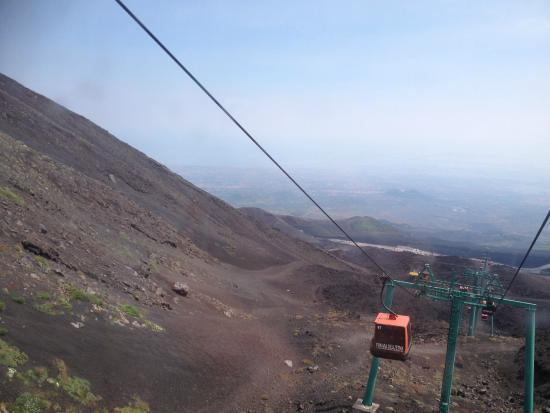 Cable Car Ride To Etna Picture Of Monte Etna Catania Tripadvisor