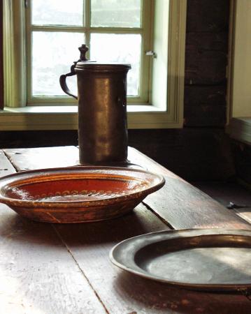 Det Hanseatiske Museum og Schoetstuene: Set table in the dining room