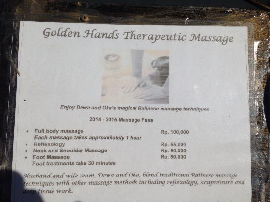Golden Hands, Therapeutic Massage