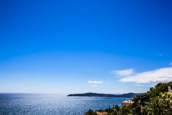 Hotel Miramar Cap D'Ail : vue de la terrasse