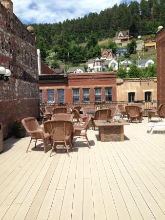 Celebrity Hotel: Roof top patio