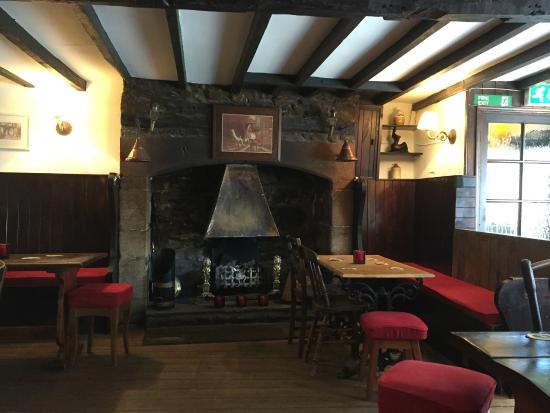 The Black Swan Hotel: The old Fireplace