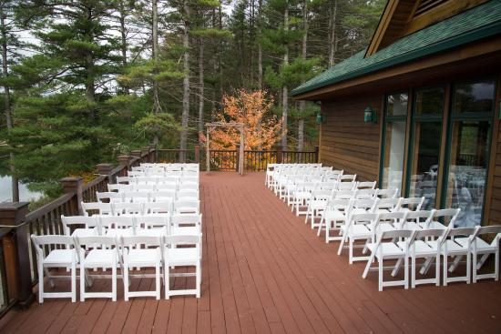 The Lodge on Echo Lake Upper Deck Wedding Ceremony Location