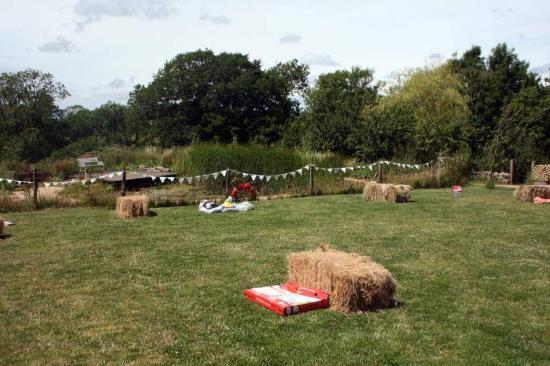 Folly Farm Centre: Lawn games nr the Pond