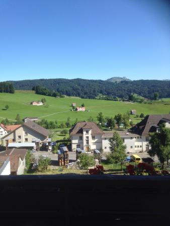 Pension Alpenrosli: Incredible view, cute inn, but a tough night sleep! So noisy!