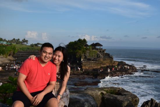 ABAS Bali Driver Private Tour : One of the photo taken by Gede at Tanah Lot Temple