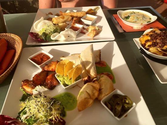 O Beach Ibiza Thai Mexican Platters