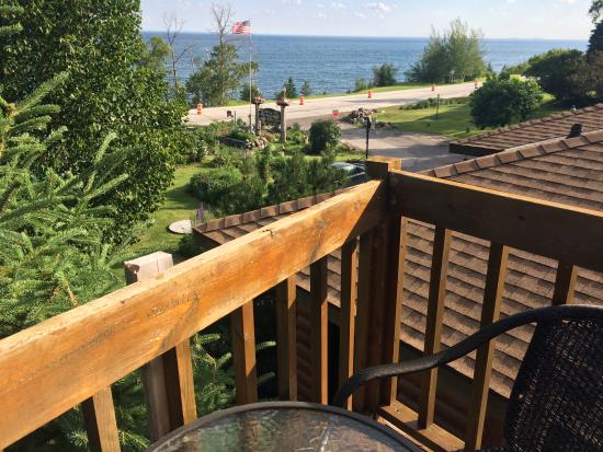 Inn on Gitche Gumee: View from our room, the Anderson Suite, and the deck made for two.