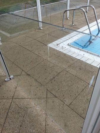 Serge Blanco Hotel Ibaia: barrière en plexiglas de la piscine
