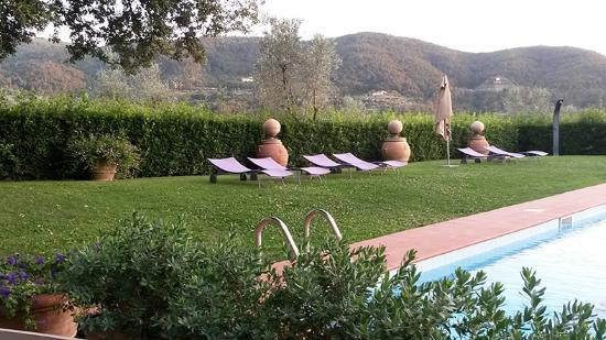 Borgo I Vicelli Country Relais: A view from breakfast/dinner table