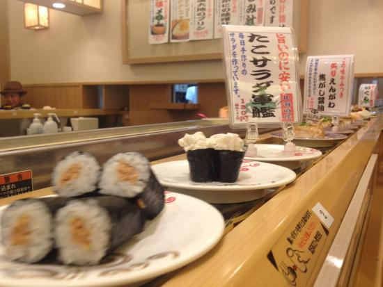 Prices Of Dishes Vary On Plate Design Sushi Picture Of