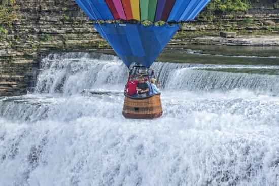 Portageville, NY: Gilly Bean over Middle Falls