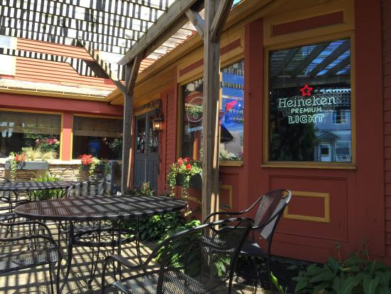 Old Erie Restaurant: On the patio